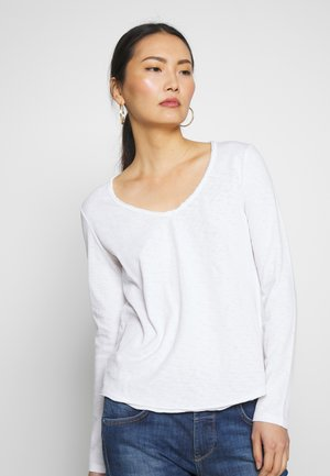 V NECK  - Long sleeved top - white