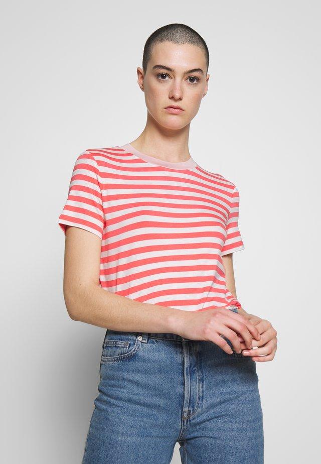 Print T-shirt - soft coral