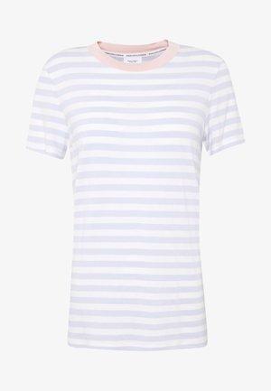T-shirt print - multi/bleached blue