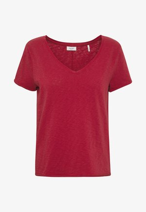 SHORT SLEEVE VNECK - Basic T-shirt - rusty red