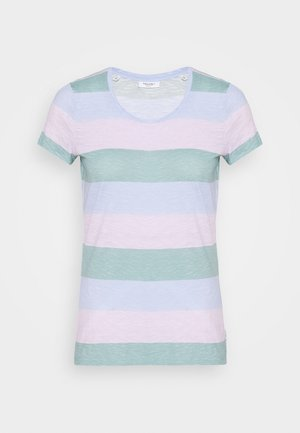 SHORT SLEEVE STRIPE - Triko s potiskem - multi