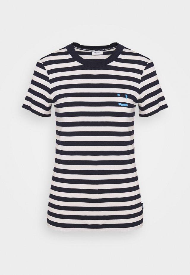 SHORT SLEEVE STRIPE - T-shirts print - multi/scandinavian blue