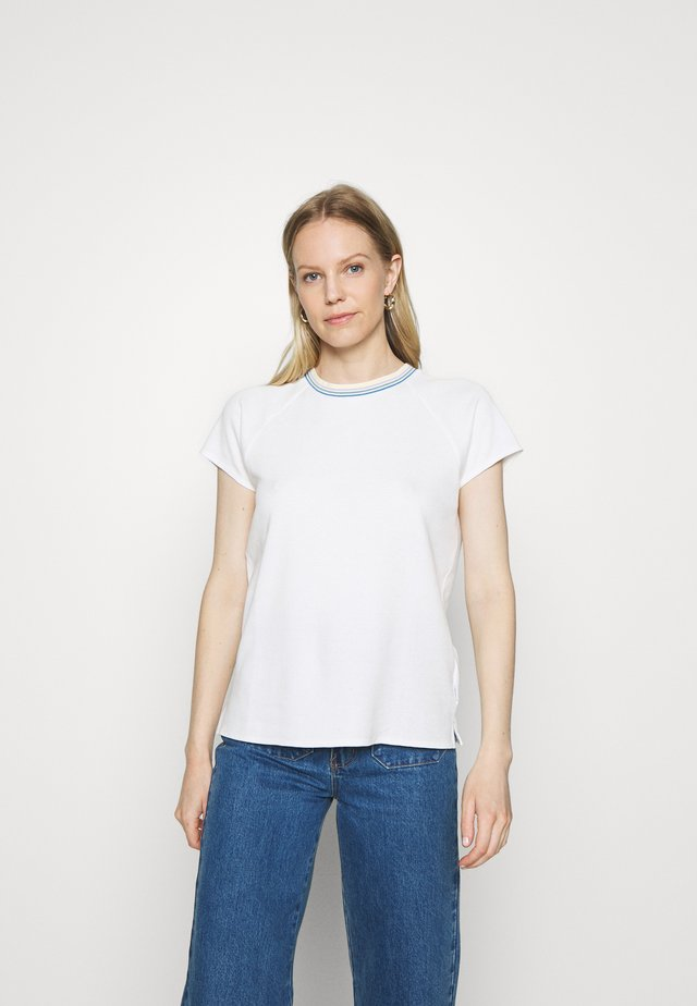 WITH TIPPING - Print T-shirt - scandinavian white