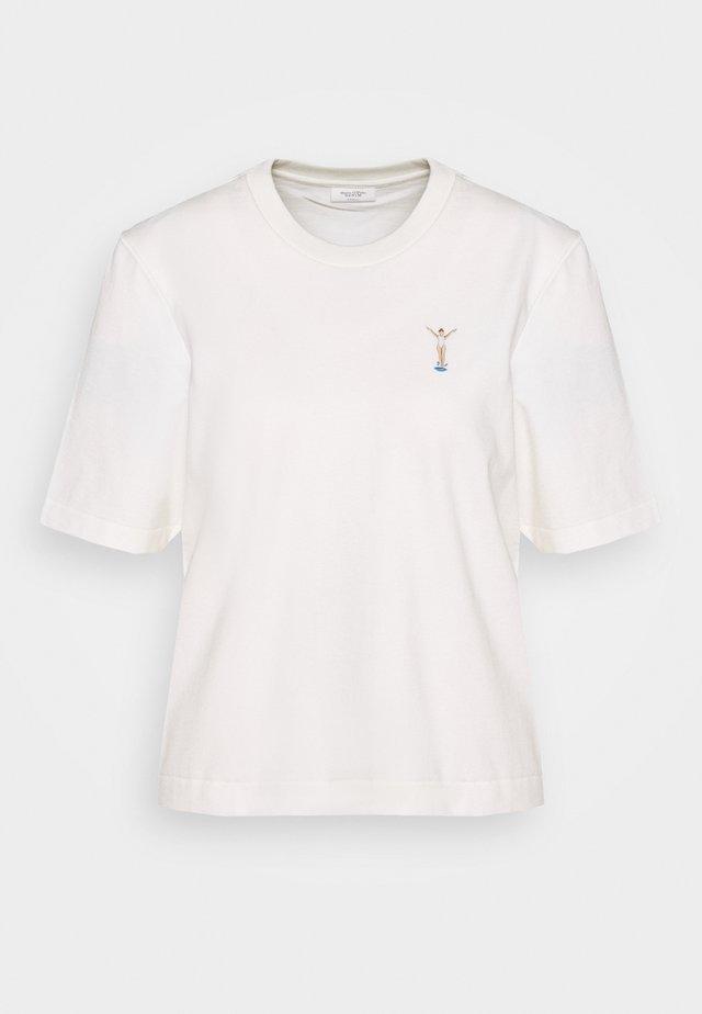 SHORT SLEEVE CROPPED - T-shirts basic - scandinavian white