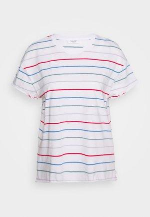 SHORT SLEEVE A SHAPED DYE STRIPE - T-shirts print - multi/scandinavian white
