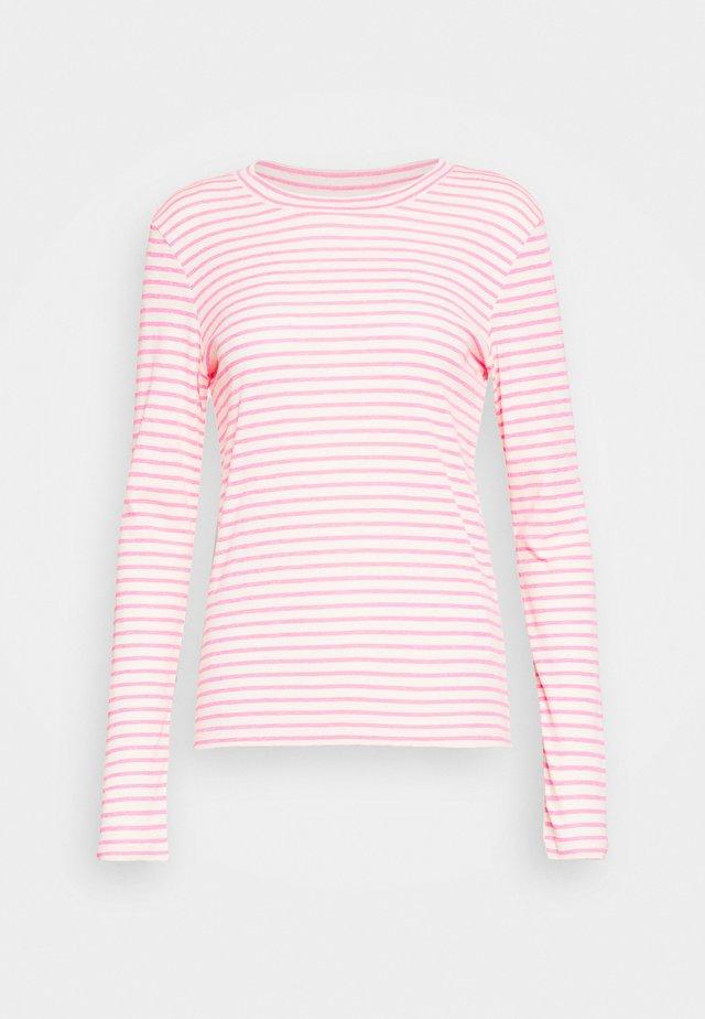 LONGSLEEVE SLIM FIT STRIPE - Top sdlouhým rukávem - light grey/pink