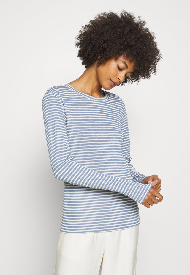 LONGSLEEVE SLIM FIT STRIPE - T-shirt à manches longues - blue