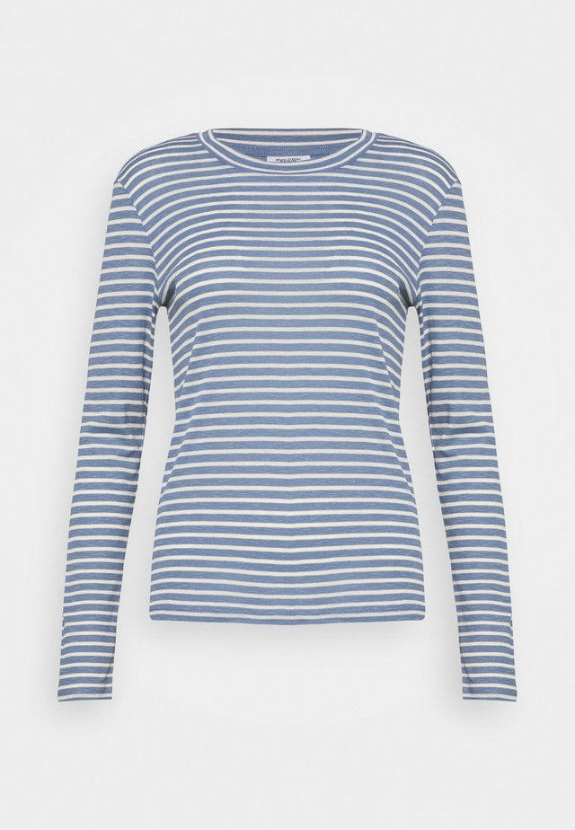 LONGSLEEVE SLIM FIT STRIPE - Long sleeved top - blue