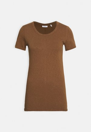 SHORT SLEEVE CREWNECK SLIM FIT - T-shirts basic - coconut shell