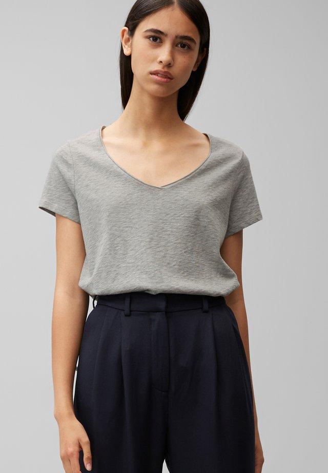 Basic T-shirt - stone melange