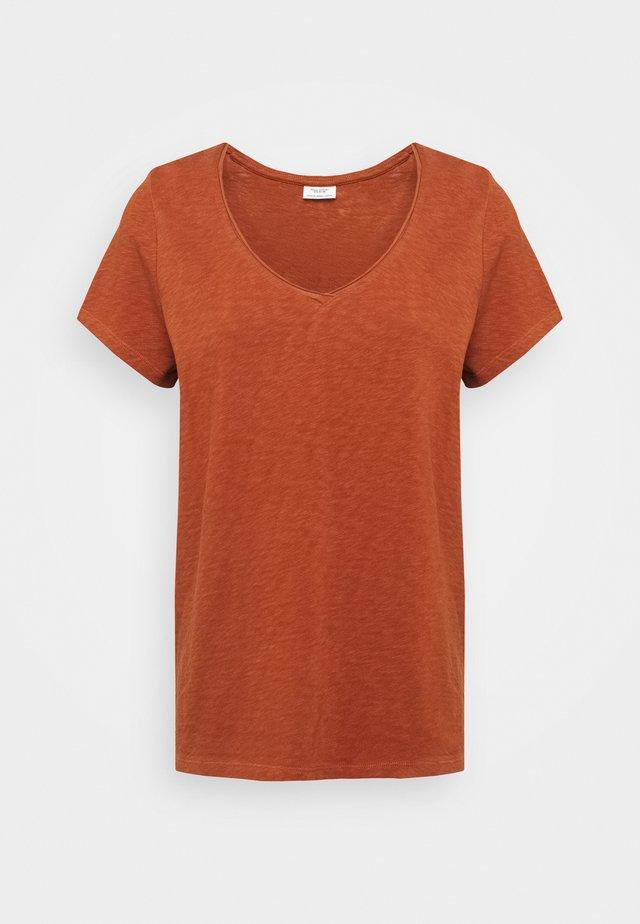 Basic T-shirt - cinnamon brown