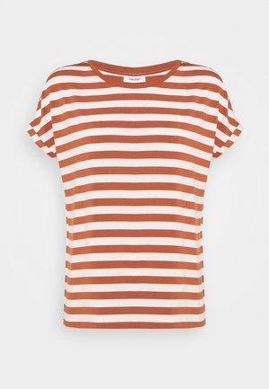 T-shirt print - multi/cinnamon brown