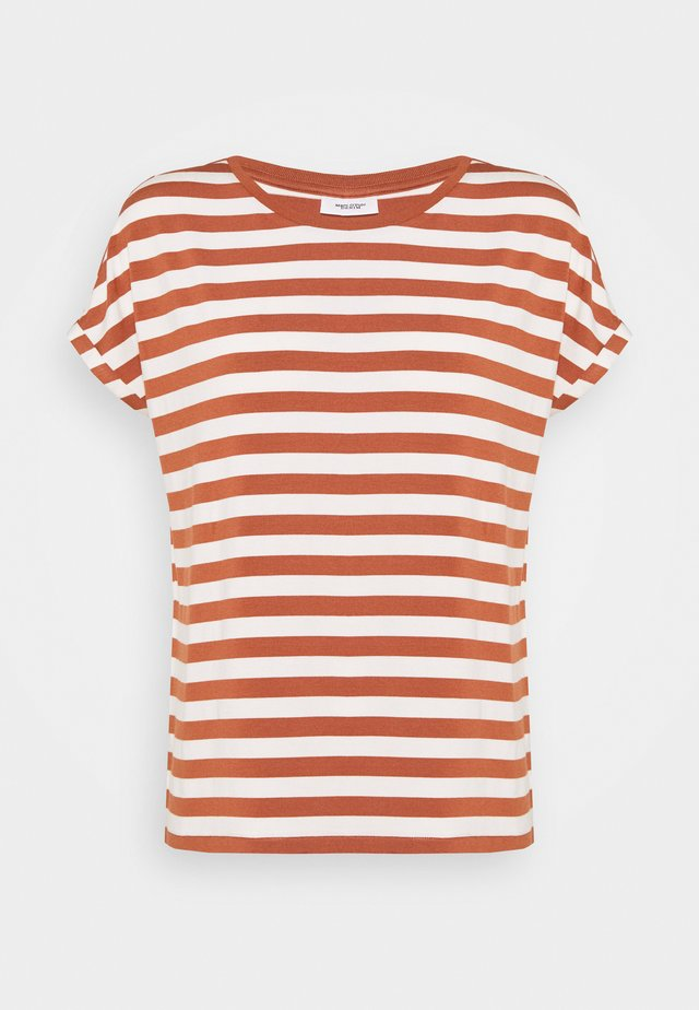 T-shirts med print - multi/cinnamon brown