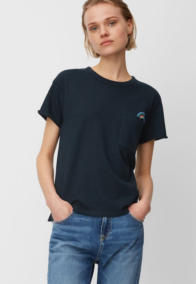 Print T-shirt - scandinavian blue