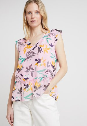 FRILL DETAIL - Blouse - pink/multi coloured