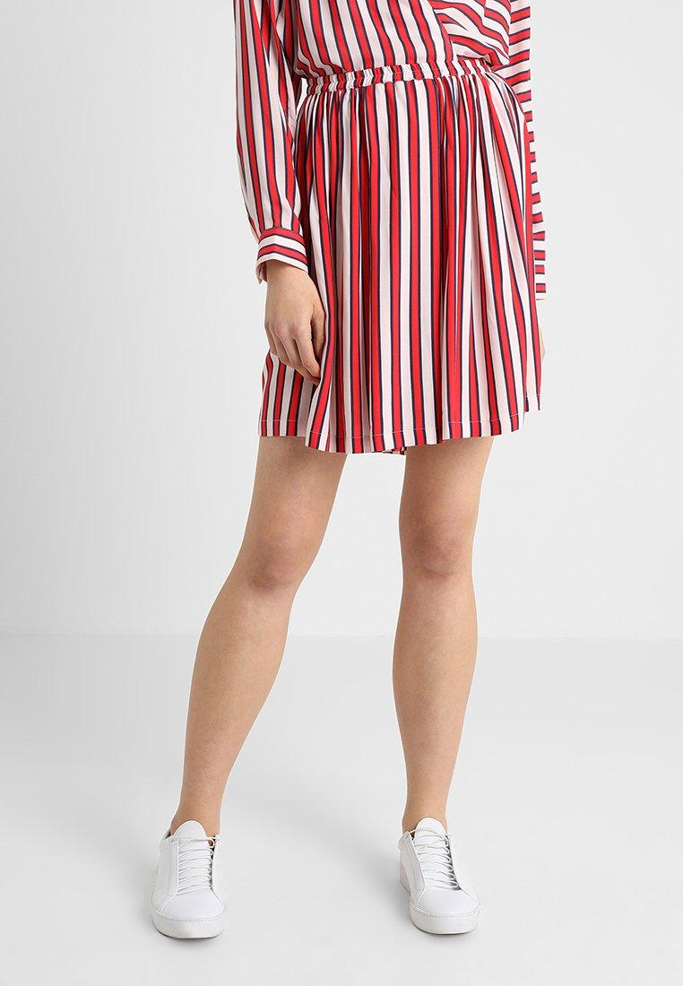 Marc O'Polo DENIM - Mini skirt - white/red