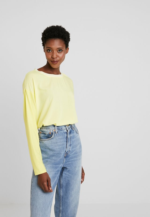 BLOUSES LONG SLEEVE - Blůza - yellow cream