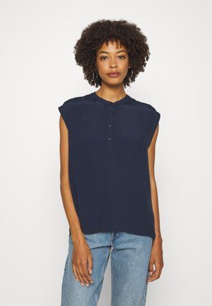 HALF PLACKET - Blouse - scandinavian blue