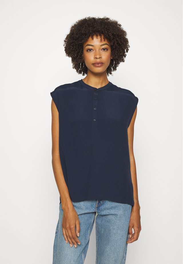 HALF PLACKET - Camicetta - scandinavian blue