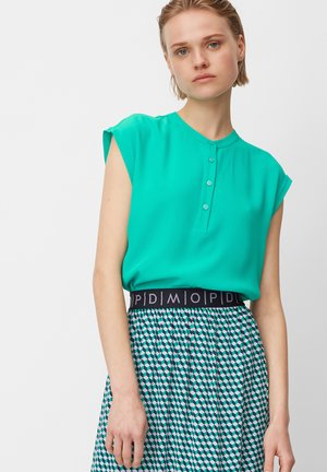 HALF PLACKET - Blouse - underwater green