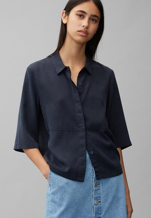 Button-down blouse - scandinavian blue