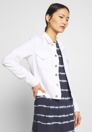 JACKET REGULAR FIT LONG SLEEVES - Džínová bunda - white