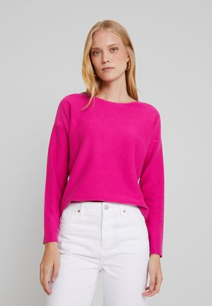 LONG SLEEVE GARMENT DYED - Pullover - fuchsia red