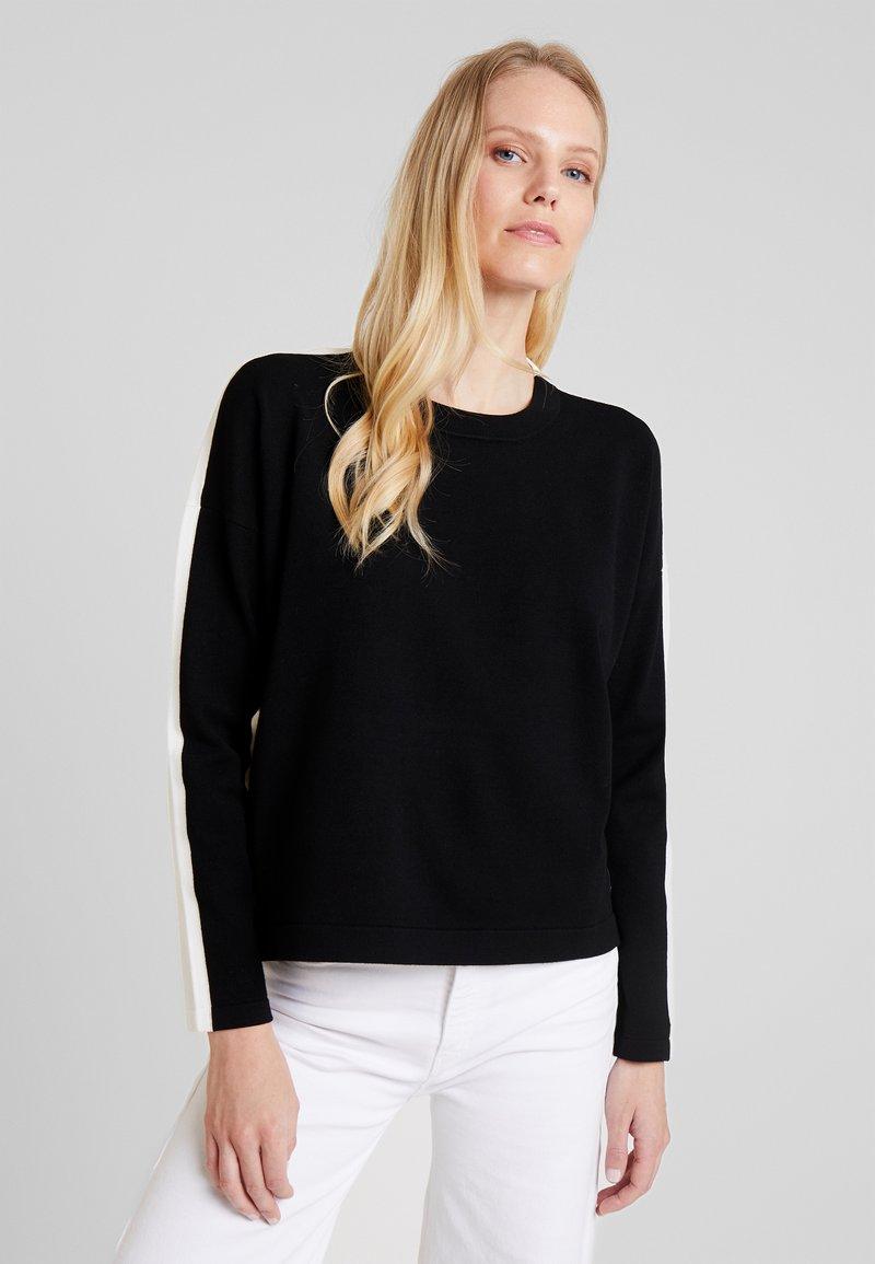 Marc O'Polo DENIM - Pullover - black/white
