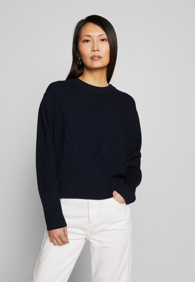 LONG SLEEVE CREW NECK - Jersey de punto - scandinavian blue