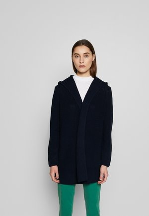 OPEN LONG SLEEVE WITH HOODY - Strickjacke - scandinavian blue