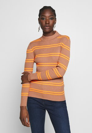 LONG SLEEVE - Strikpullover /Striktrøjer - multi/flash orange