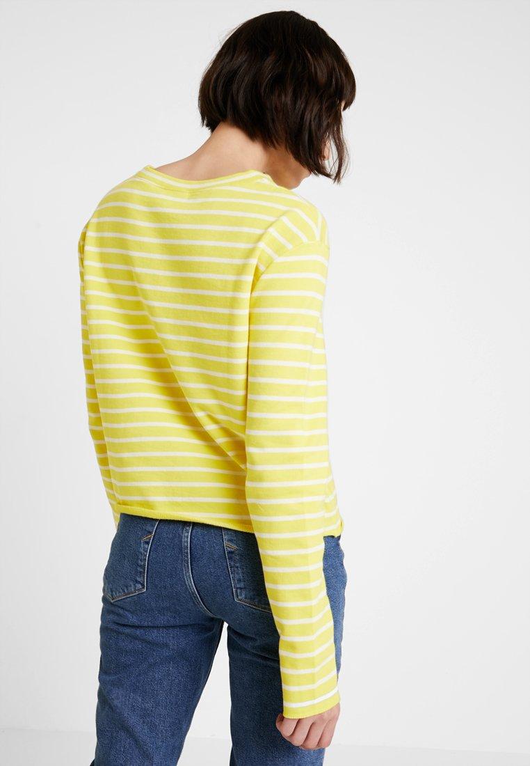 Marc O'Polo DENIM CREW NECK STRIPED - Sweatshirt yellow/white