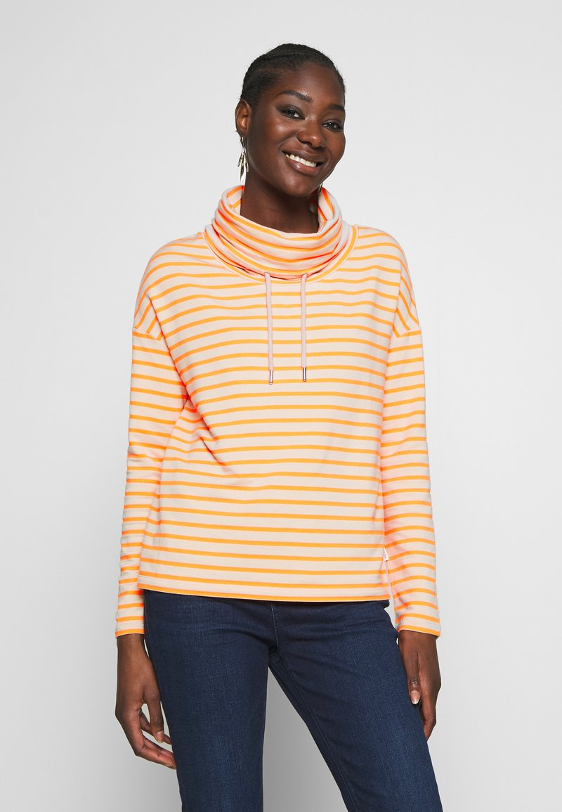 Marc O'Polo DENIM - TUBE NECK STRIPED RELAX FIT DRAWSTRING DETAIL - Long sleeved top - multi