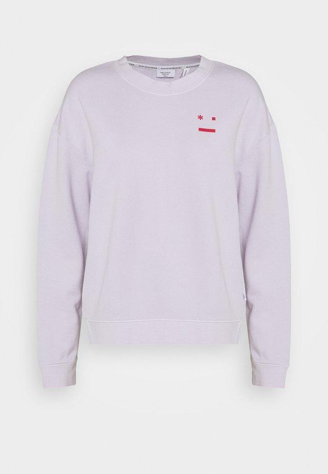 LOOSE SHAPE CREW NECK LONG SLEEVE PLACED PRINT - Sweatshirts - syringa lilac