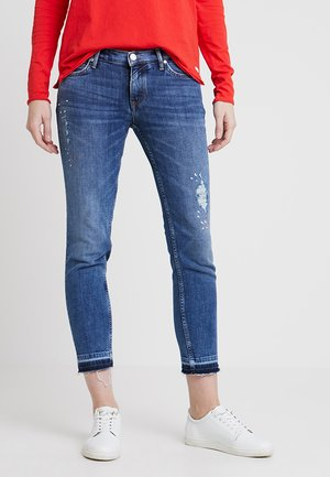 SIV CROPPED - Jeans slim fit - im a cool girl blue