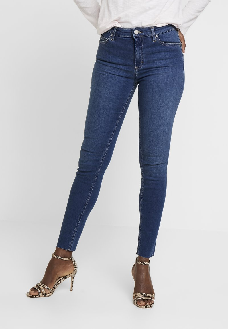 Marc O'Polo DENIM - KAJ CROPPED - Jeans Skinny Fit - dark denim