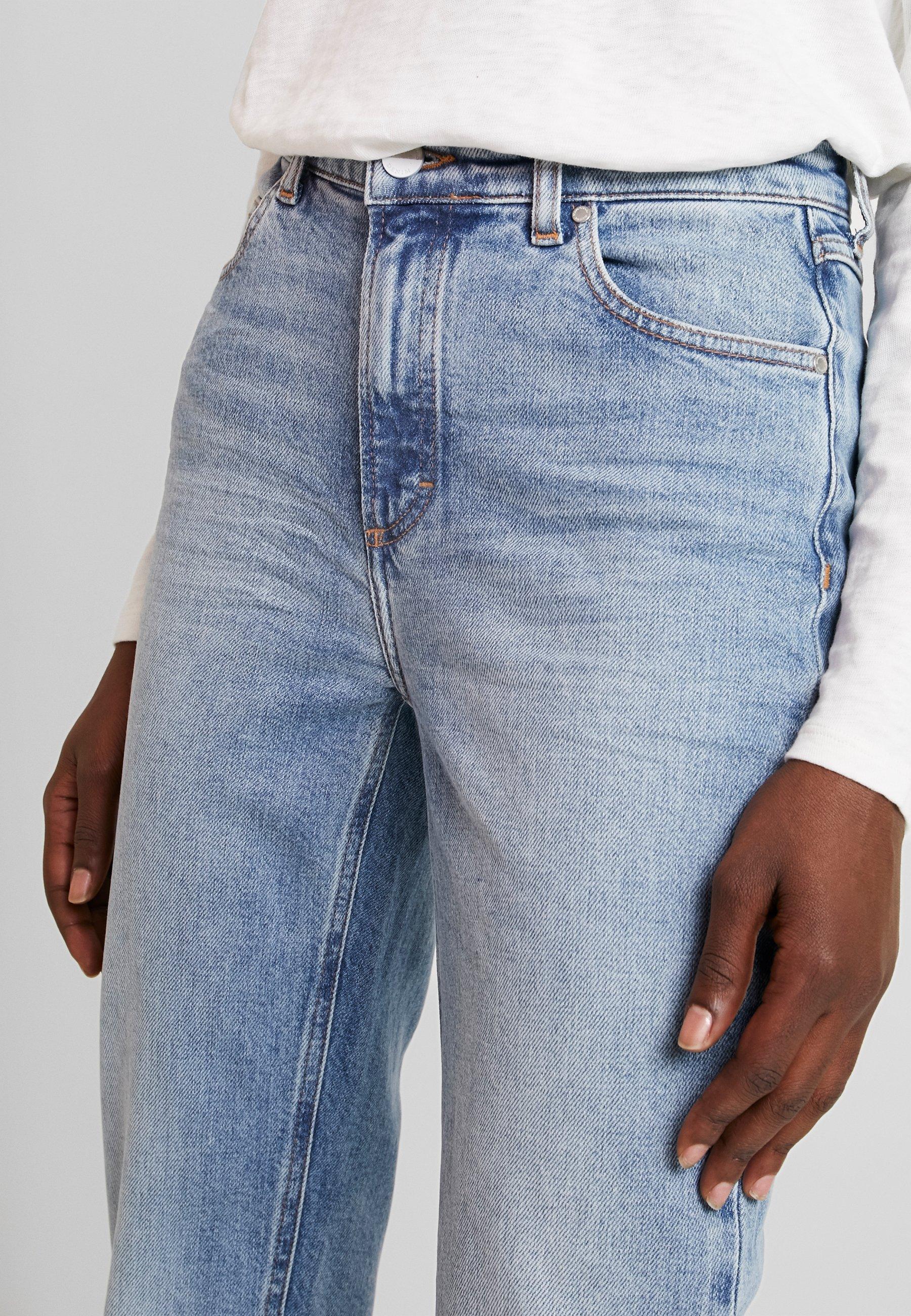 Marc O'Polo DENIM ALVA HIGH STRAIGHT - Jeansy Straight Leg - light salt n'pepper authentic