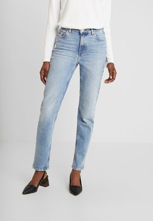 ALVA HIGH STRAIGHT - Jeans straight leg - light salt n'pepper authentic
