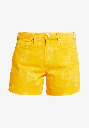 Denim shorts - mango orange