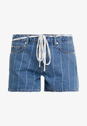 MID THIGH LENGTH - Shorts di jeans - on the court wash