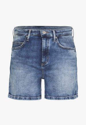 TURN UP - Denim shorts - blue wash