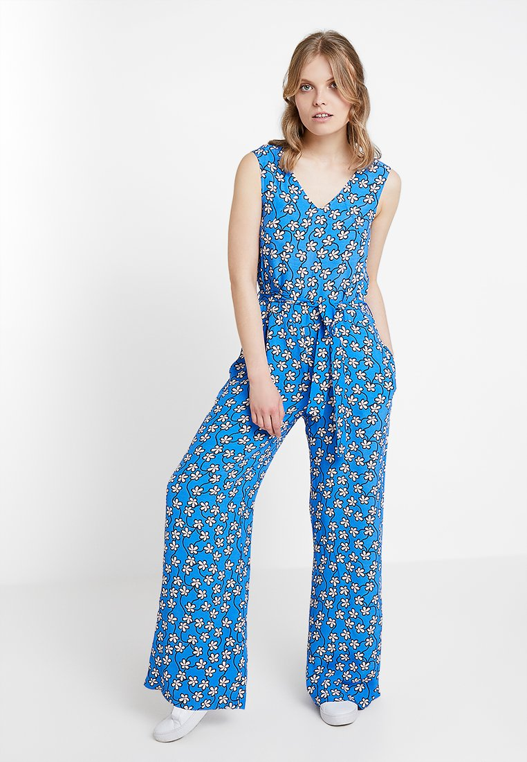 Marc O'Polo DENIM - OVERALL WIDE LEG - Jumpsuit - blue/white/rose