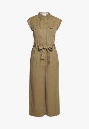 OVERALL PATCH ON POCKETS BELT - Jumpsuit - bleached olive