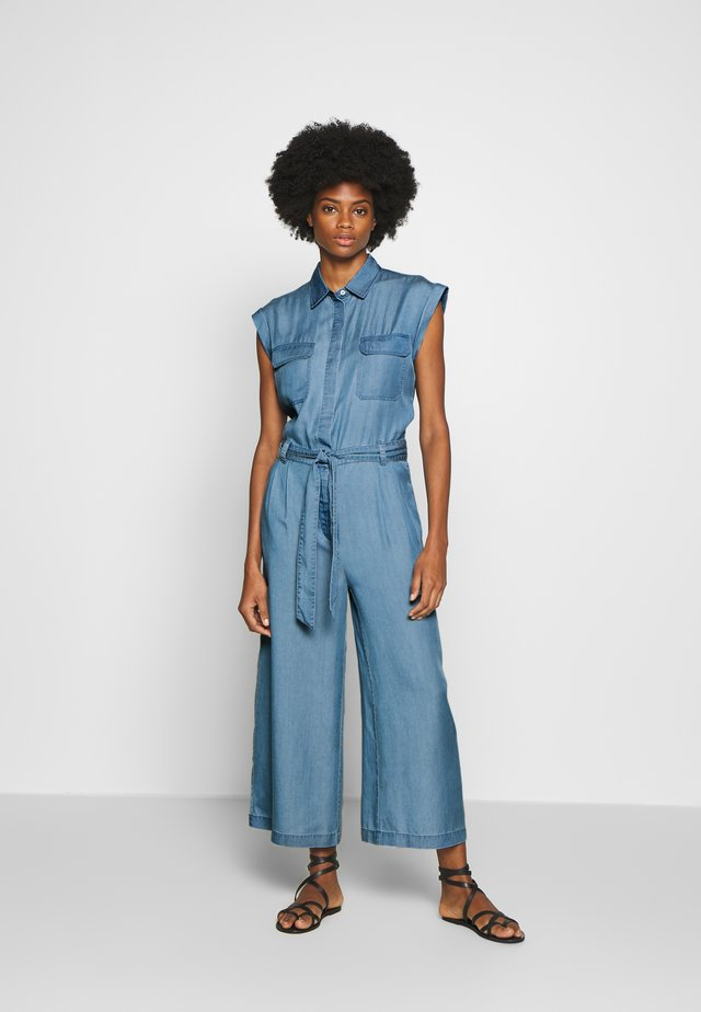 PATCH ON POCKETS  - Tuta jumpsuit - blue