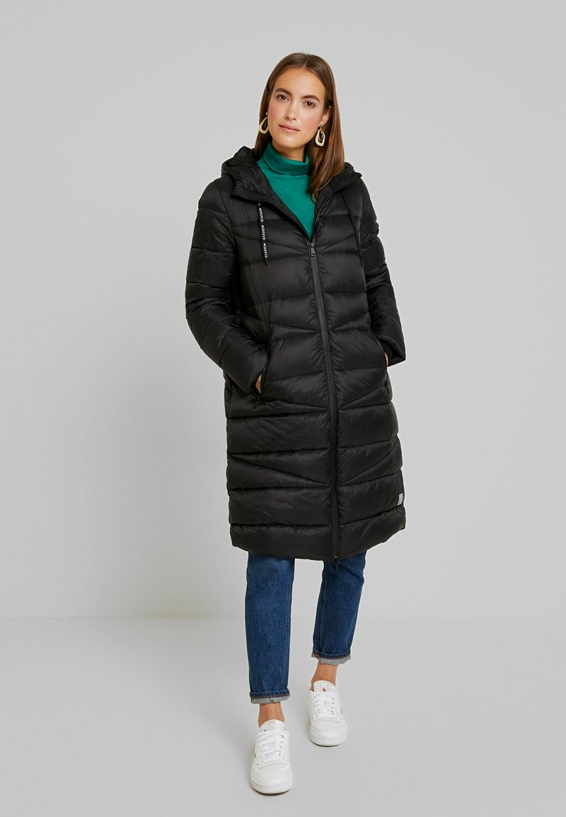 Marc O'Polo DENIM - COAT QUILTED PUFFER 2IN1 OPTIC - Cappotto invernale - black