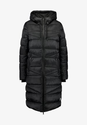 COAT QUILTED PUFFER 2IN1 OPTIC - Płaszcz zimowy - black