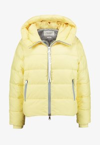 Marc O'Polo DENIM - PUFFER CROPPED BIG HOOD - Winter jacket - yellow cream - 4