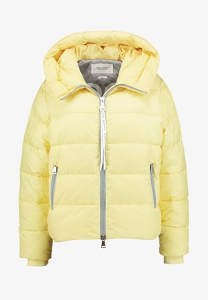 PUFFER CROPPED BIG HOOD - Vinterjakke - yellow cream