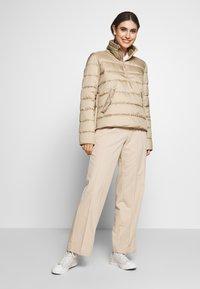 Marc O'Polo DENIM - LIGHT FAKE ZIPPER ZIPPER - Light jacket - nordic beige - 1