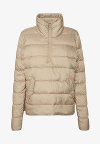 Marc O'Polo DENIM - LIGHT FAKE ZIPPER ZIPPER - Light jacket - nordic beige - 4